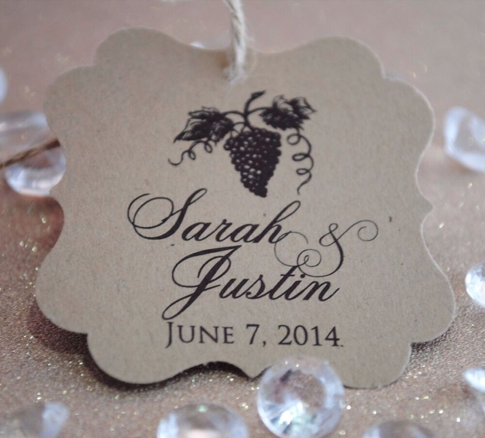 Wedding Favor Tags Ebay : ... Grapes Personalized Wedding Favor Tag, Bridal Shower Favor Tag eBay