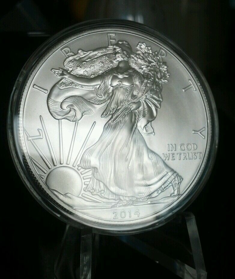 Watch 2001 Us Mint American Silver Eagle 1 Dollar Unc Coin