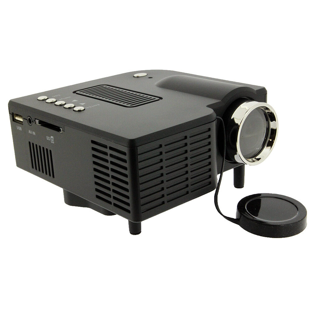 mini portable hd led projector home cinema theater pc