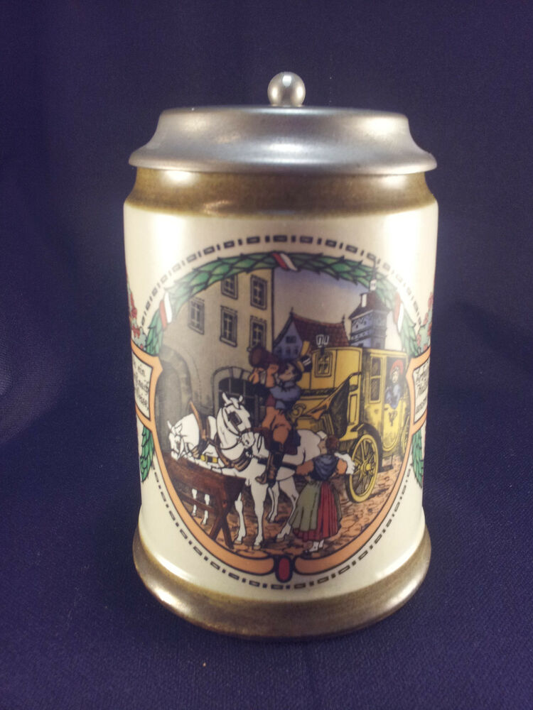 Lidded German Beer Stein Mug 0 5l Mr Marzi Amp Remy Theme