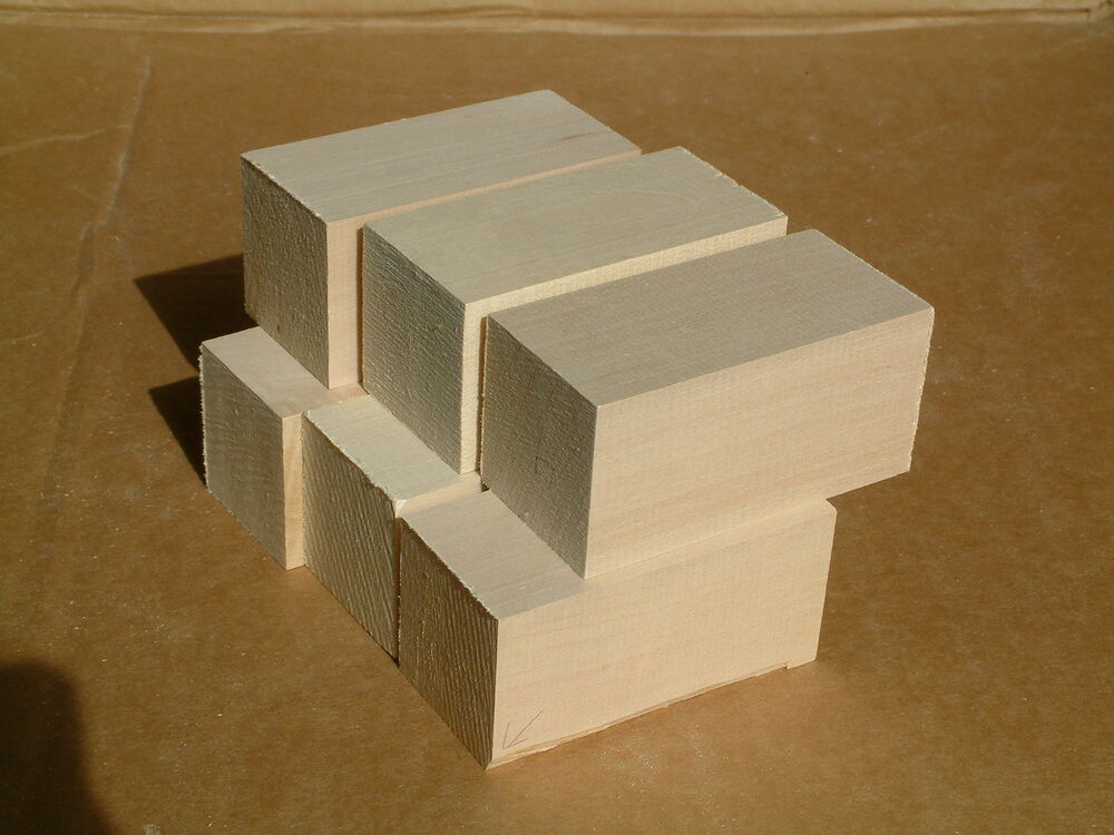 Basswood blocks x pcs carving wood bass lumber