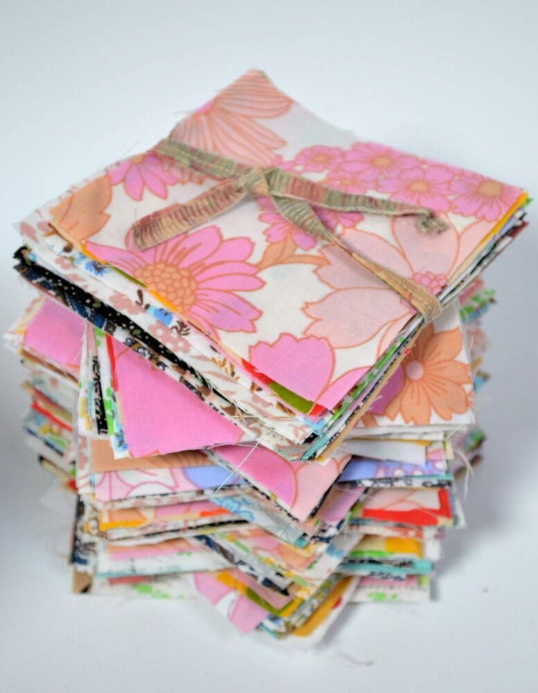 Striking retro vintage cotton fabric material sewing for Cotton sewing material