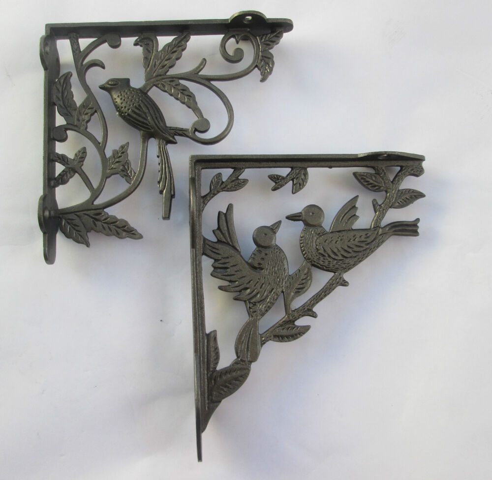 Cast Iron Ornate Fancy Vintage Shelf Support Book Sink