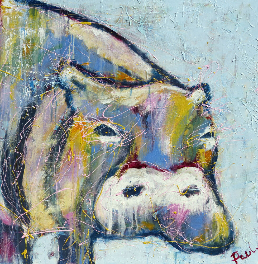 Contemporary print hippo art painting canvas 2000s for What is canvas painting