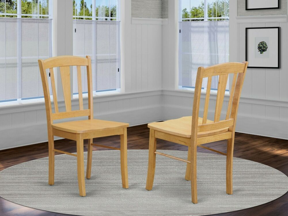 Set of 4 east west furniture dublin dinette kitchen dining for Oak dining room chairs