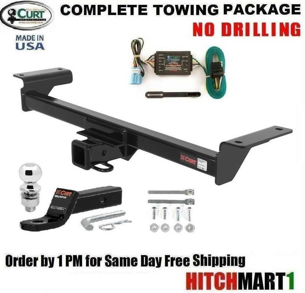 """FITS 2007-2009 ACURA RDX CLASS 3 CURT TRAILER HITCH COMPLETE PACKAGE w/ 2"""" BALL 
