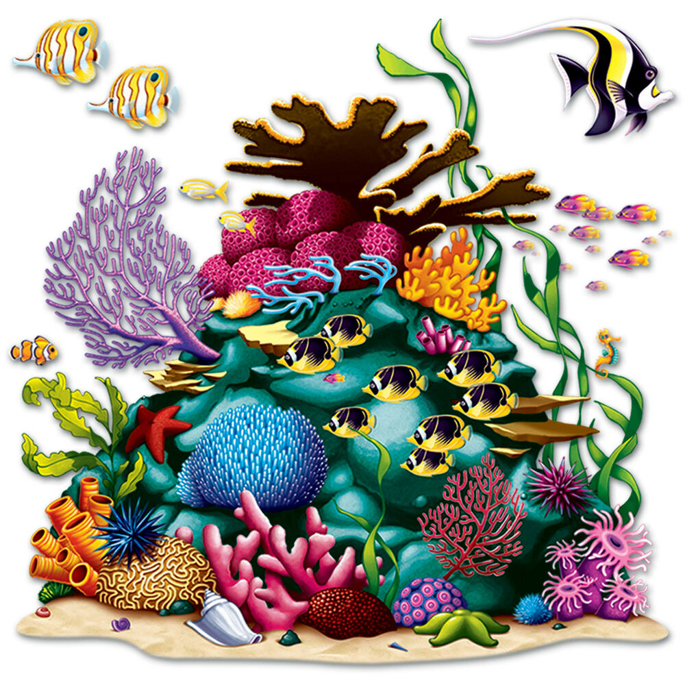 Under the sea ocean tropical luau party decoration coral for How to make luau decorations at home