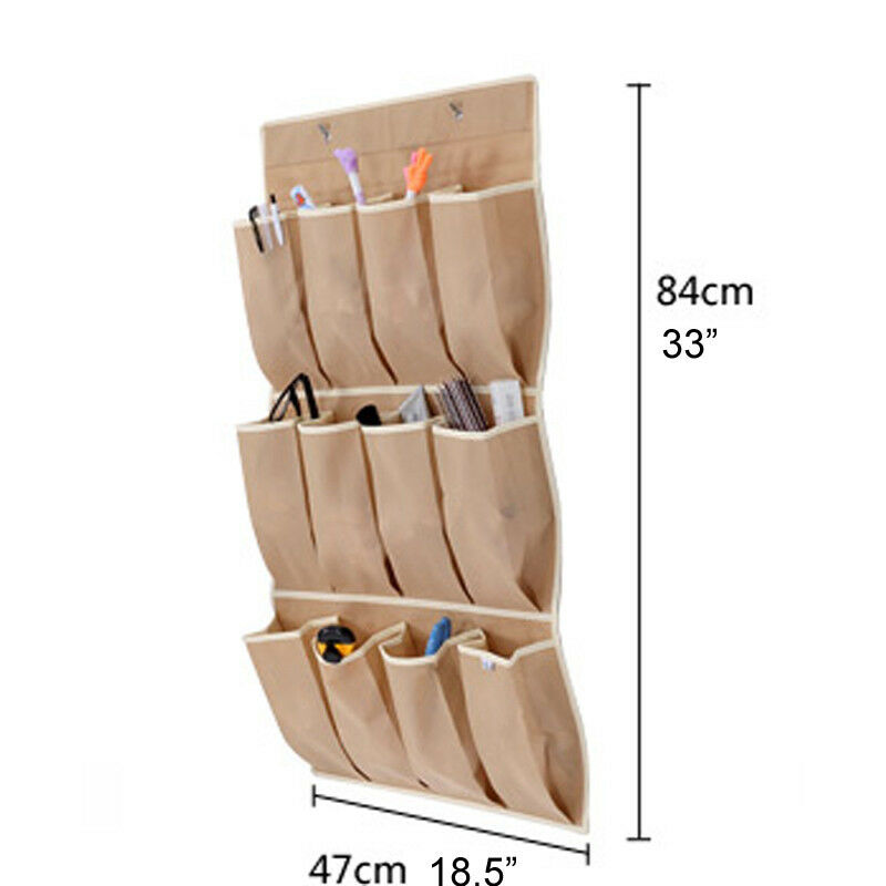 Brand New Hanging Storage Apricot 12 Apricot Pockets Shoe