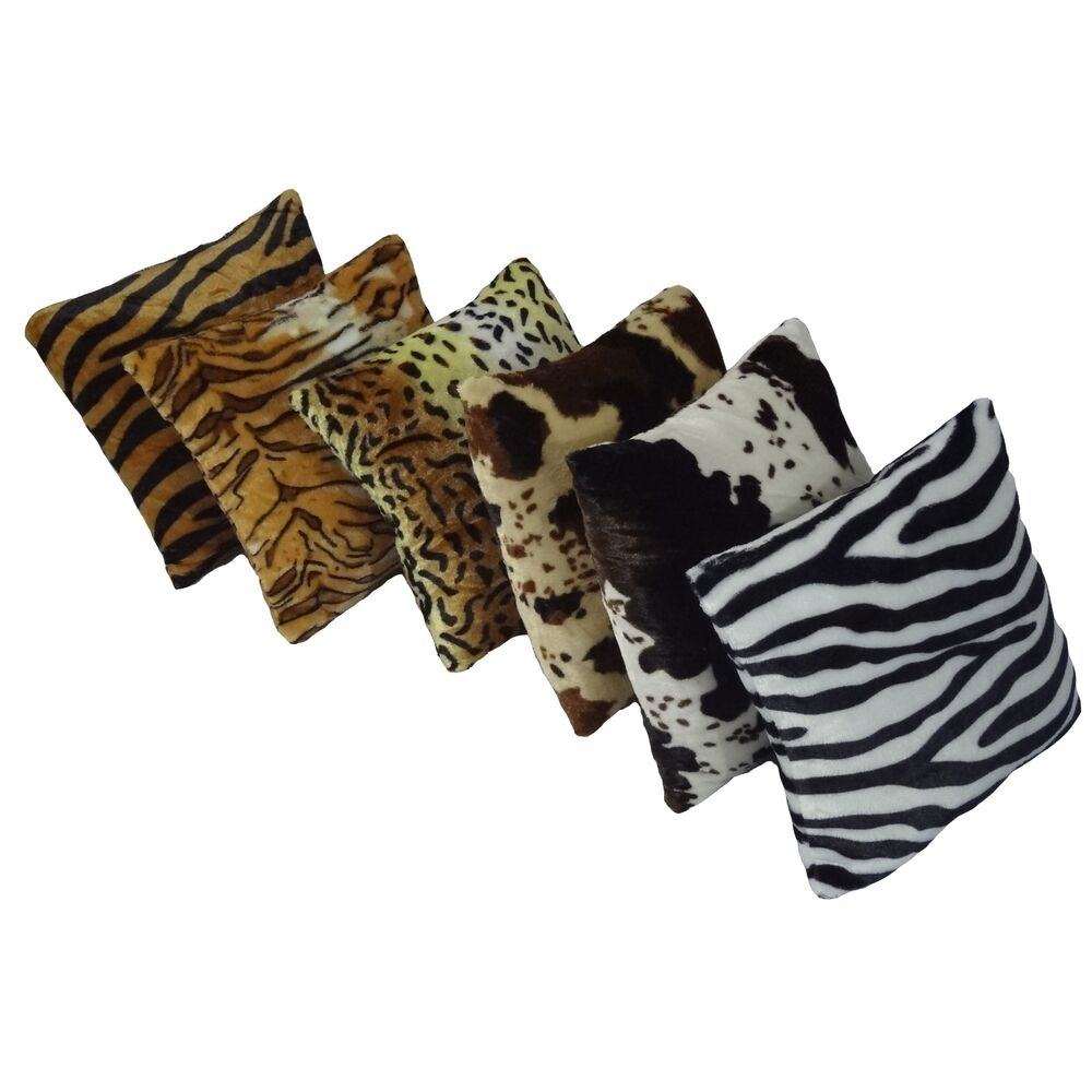 New Animal Pattern Faux Fur Decorative Throw Pillow Cover Cushion Case Square eBay