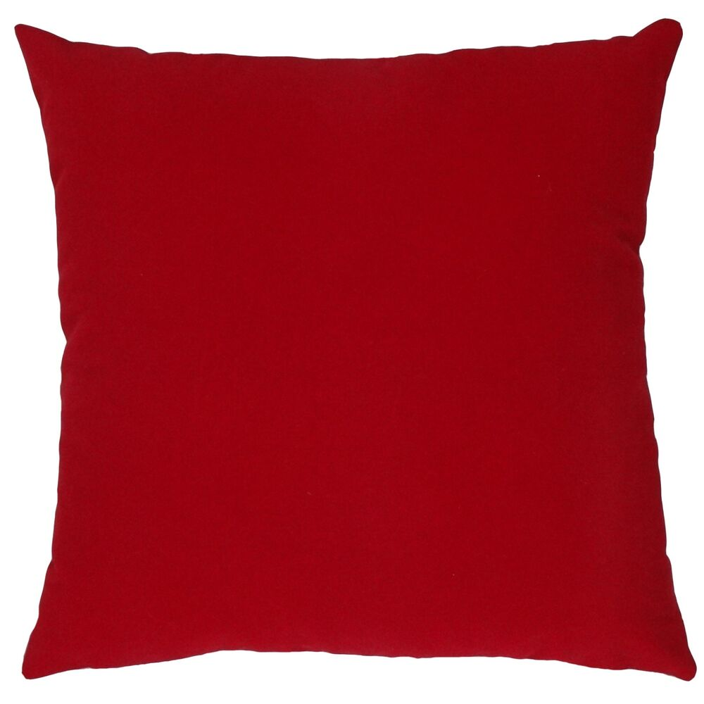 New Red Solid Color Korean Velvet Decorative Throw Pillow Case Cushion Cover 18