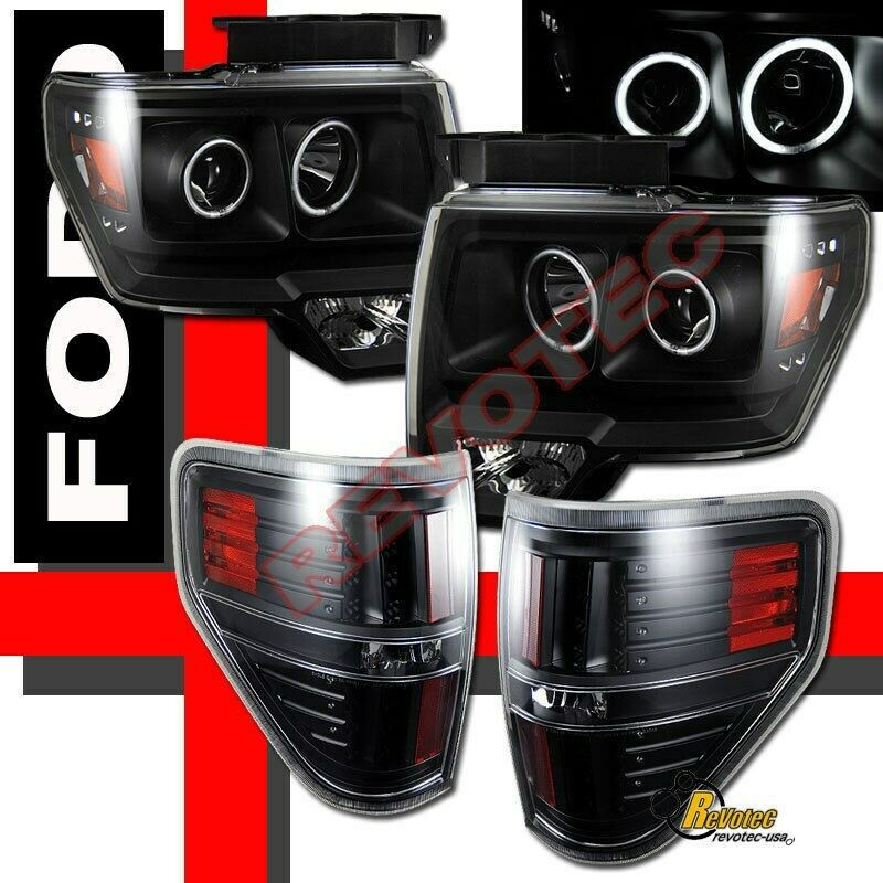 09 14 ford f150 pickup ccfl halo projector headlights. Black Bedroom Furniture Sets. Home Design Ideas