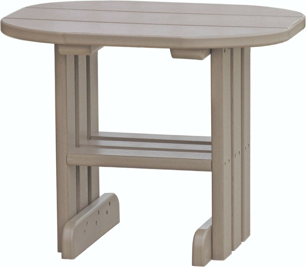 Poly Furniture Wood End Table Weatherwood Color Amish