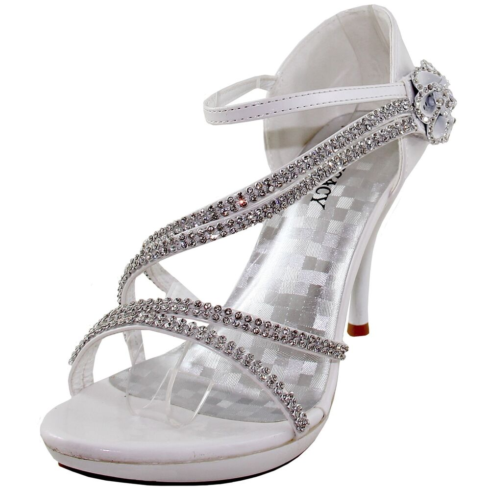 New Women's Shoes Evening Rhinestones High Heel Stilettos