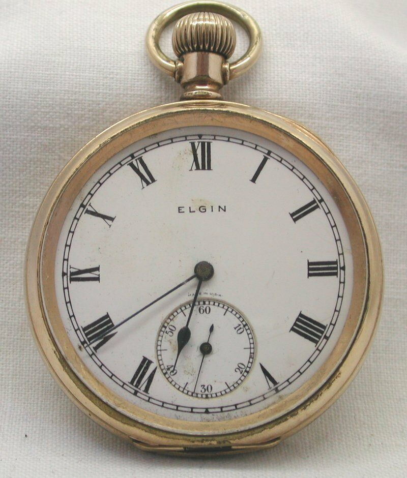 vintage gold filled elgin open pocket ebay