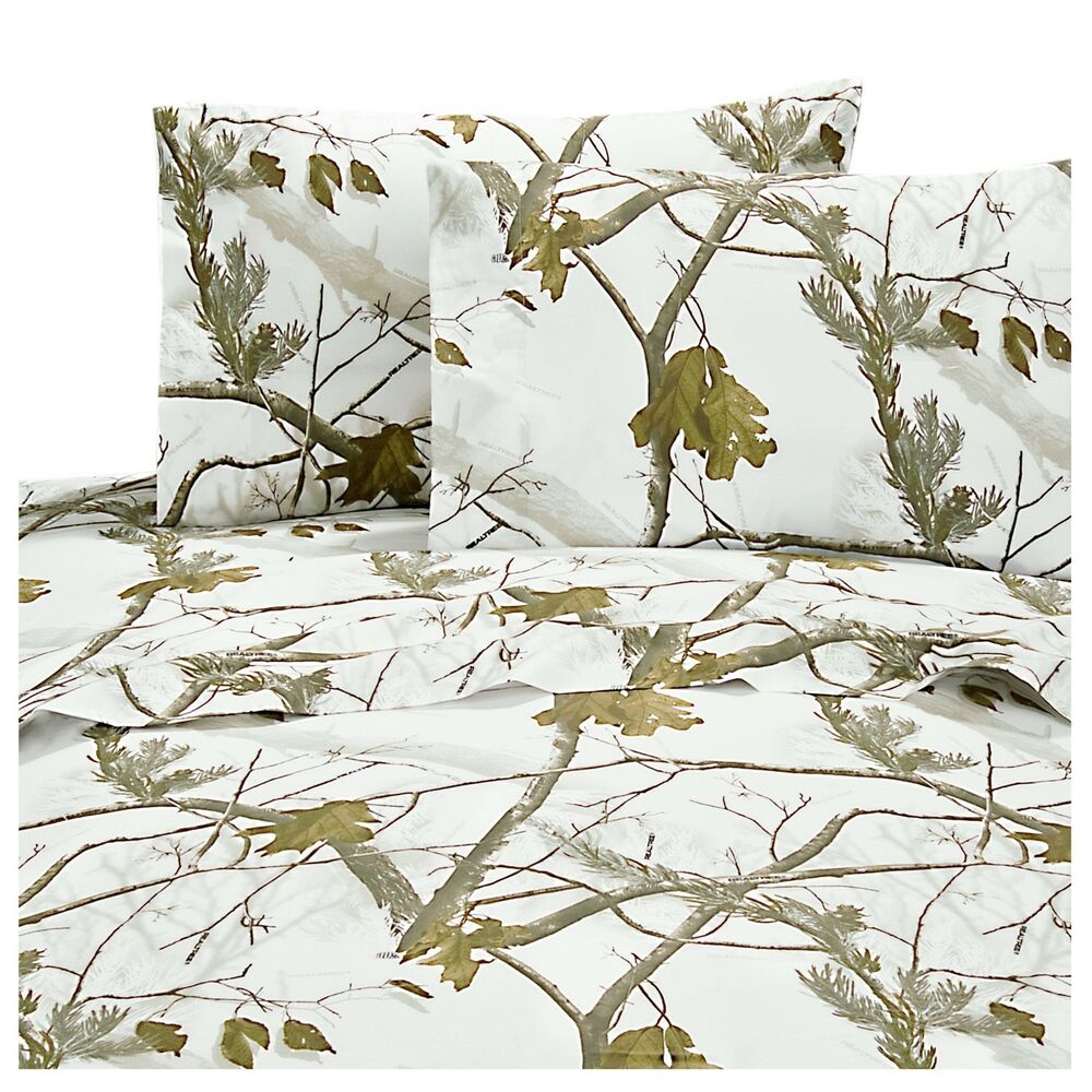Realtree® AP Snow Camo Sheets ~ White Camouflage Sheet Set ...