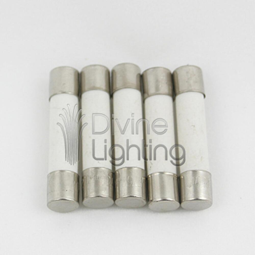5 Qty Abc 20a Fast Blow Ceramic Fuse 20 Amp 250v Abc20a