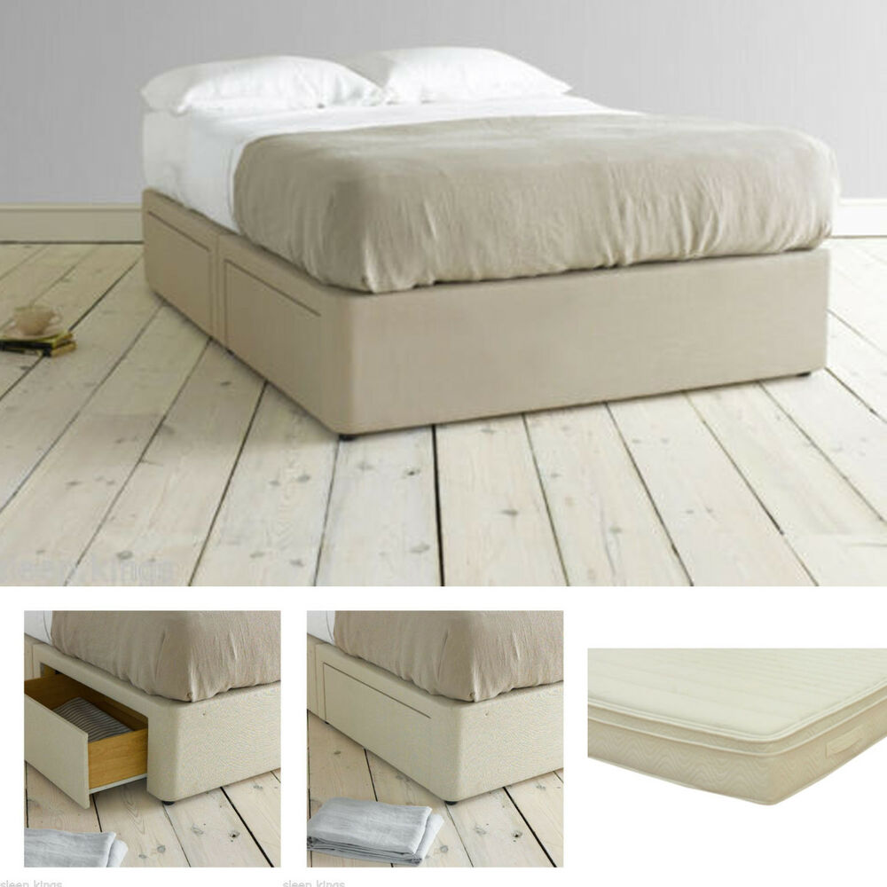 divan base with memory foam or latex pocket sprung mattress in all sizes ebay. Black Bedroom Furniture Sets. Home Design Ideas