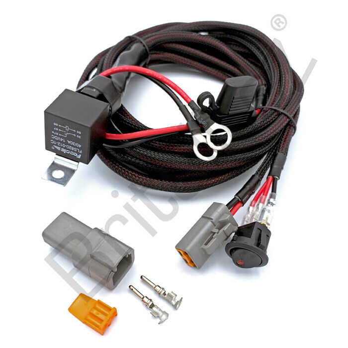 12v wiring kit includes switch  u0026 relay for led spotlights