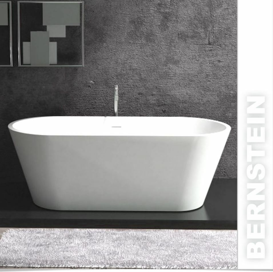 freistehende badewanne aus mineralguss almeria stone wei 170x80cm solid stone ebay. Black Bedroom Furniture Sets. Home Design Ideas