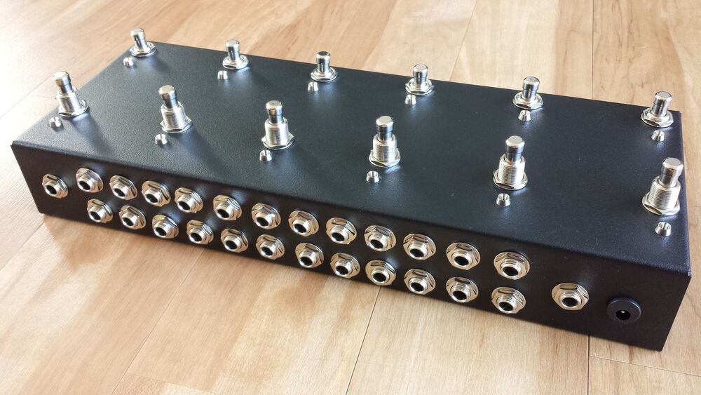 12 looper loop pedal true bypass pedal board guitar effects switcher ebay. Black Bedroom Furniture Sets. Home Design Ideas