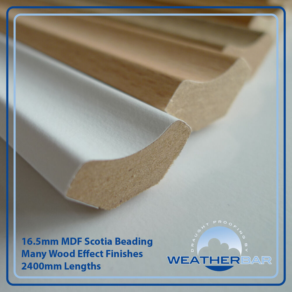 Laminate wood mdf scotia floor beading edging strips