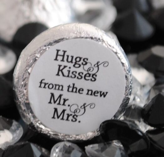 108 Hugs & Kisses from the new Mr. & Mrs. Hershey Kiss Wedding ...
