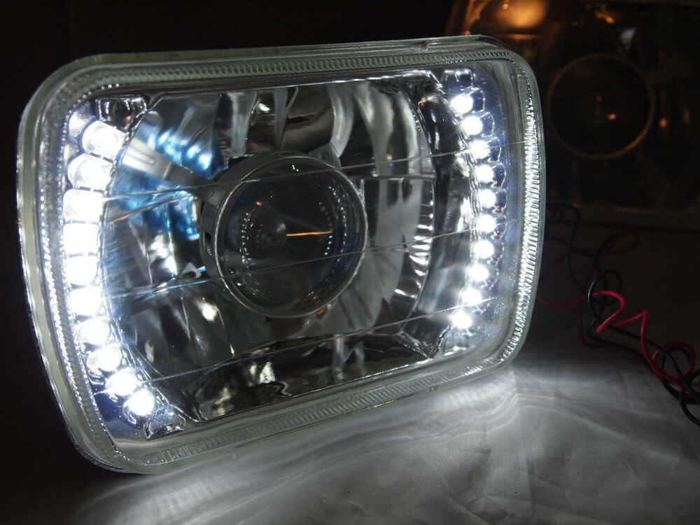 86 95 jeep wrangler yj glass head lights projector led headlights h4. Cars Review. Best American Auto & Cars Review