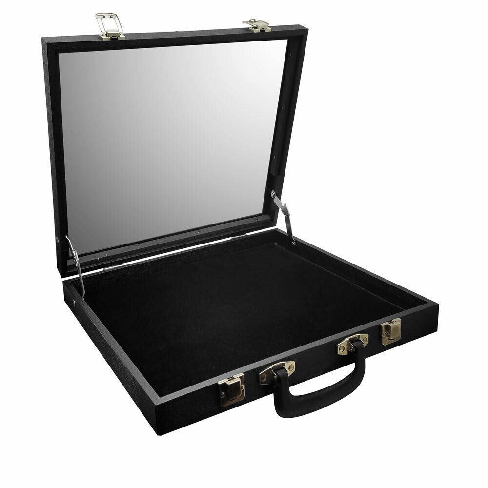 glass top travelling jewelry case storage box travel case