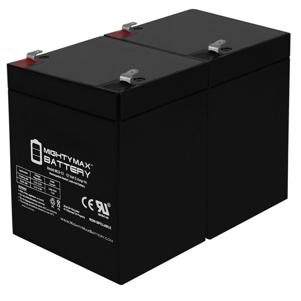 Mighty Max 2 Pack Ml5 12 12v 5ah Battery For Craftsman