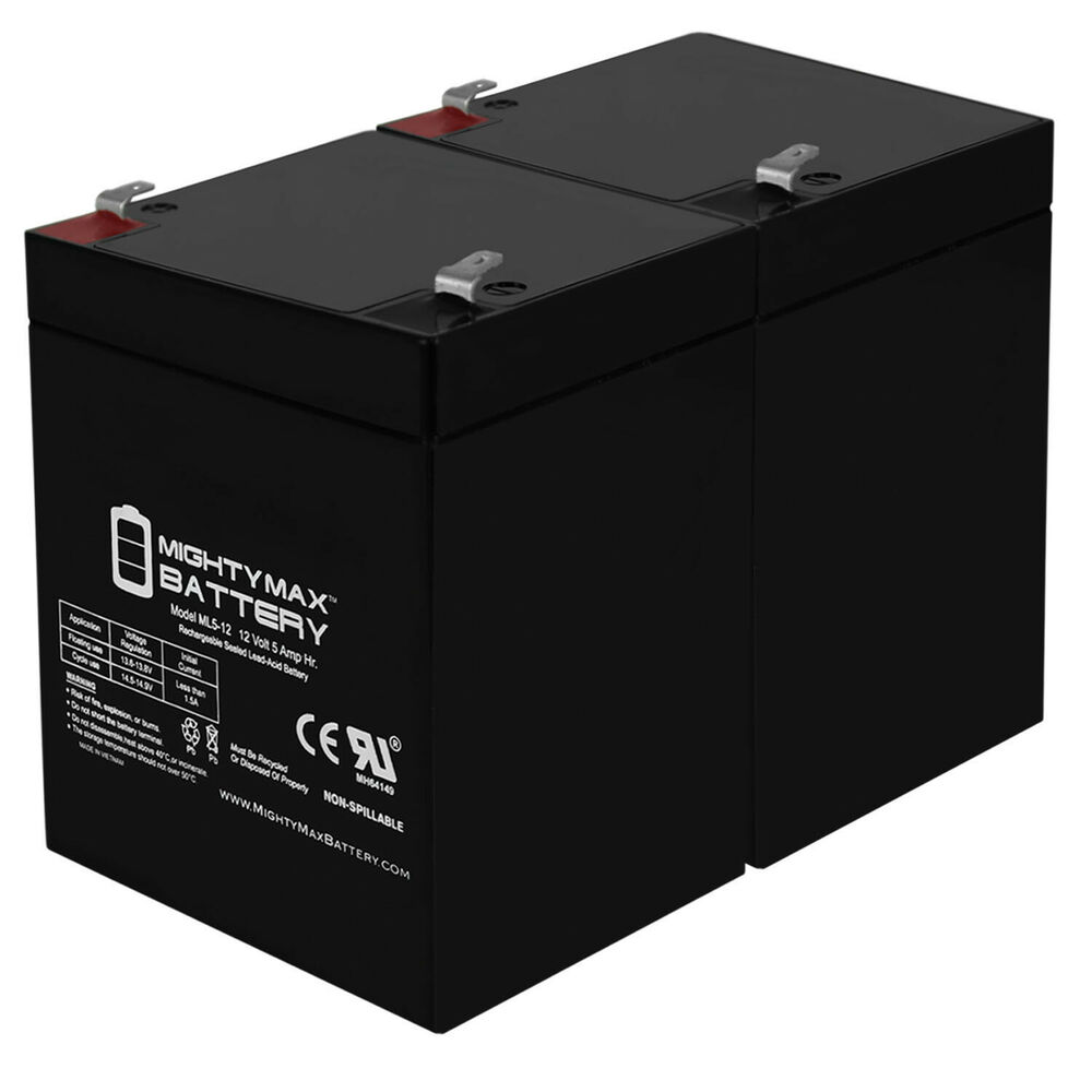 Mighty max 2 pack ml5 12 12v 5ah battery for craftsman for 12v garage door opener