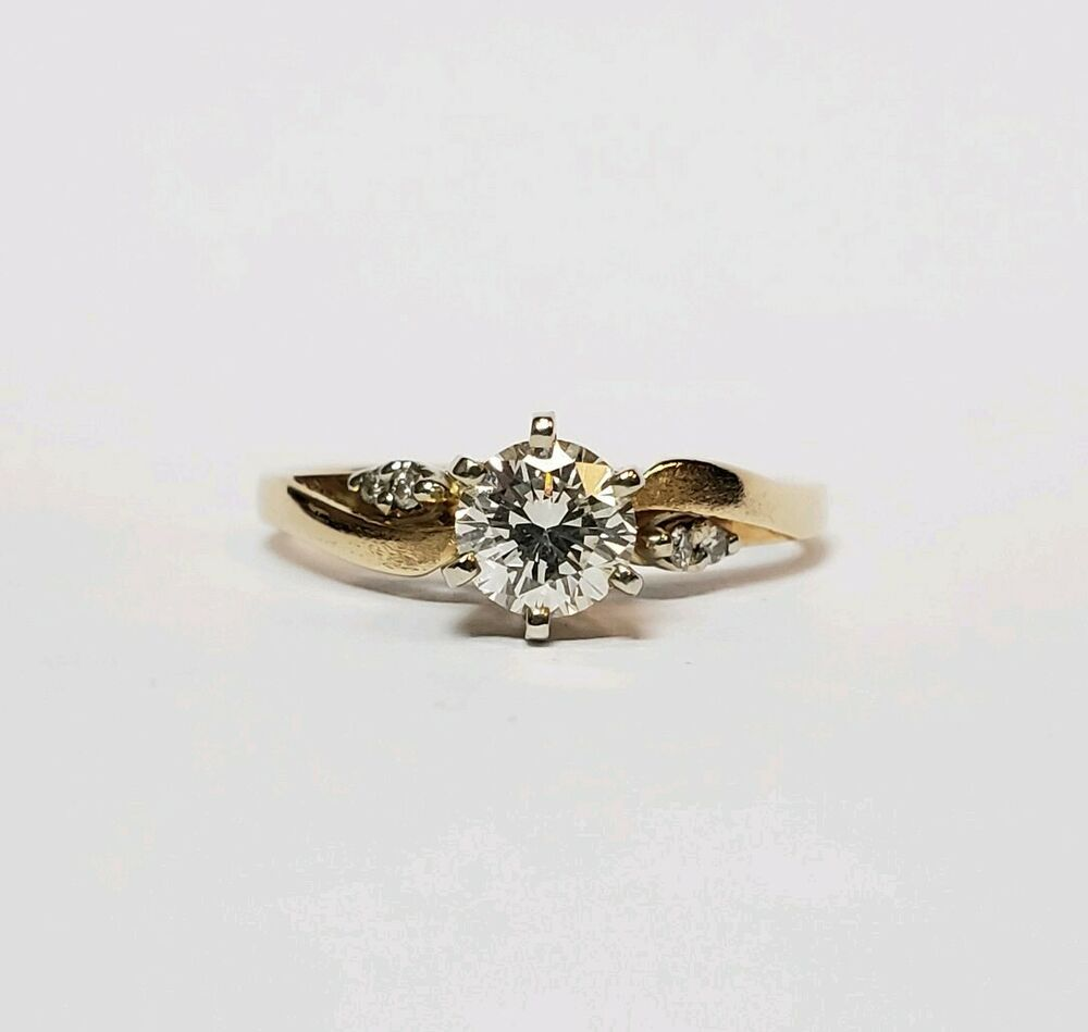 HIGH QUALITY SOLITARE 1/2 CARAT DIAMOND ENGAGEMENT RING