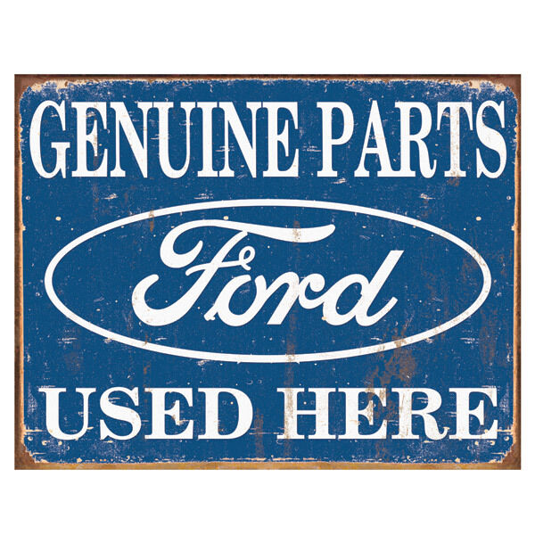 Auto Garage Signs : Ford parts used here metal sign vintage genuine tin