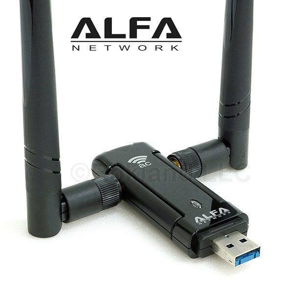 alfa awus036ac 867 mbps long range wifi usb adapter dual band 2 4 5 ghz ebay. Black Bedroom Furniture Sets. Home Design Ideas