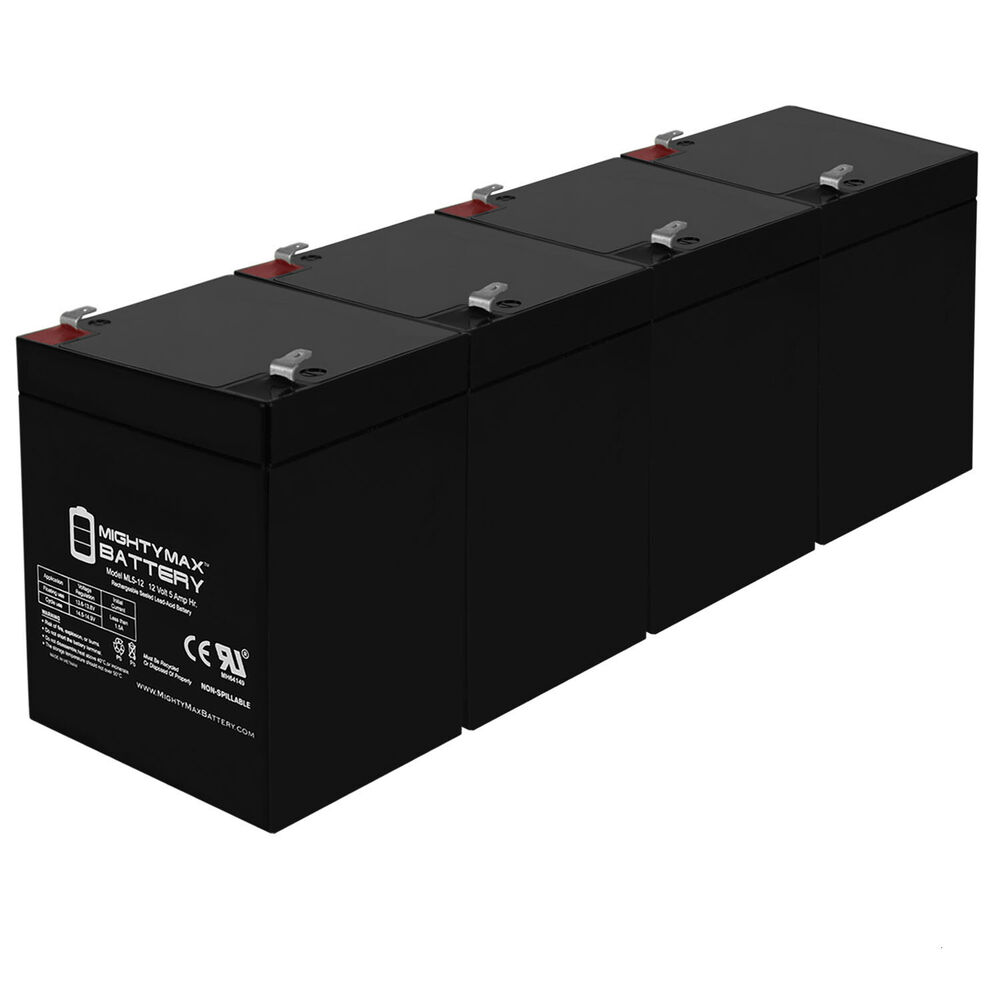 Mighty max 4 pack ml5 12 12v 5ah battery for craftsman for 12v garage door opener
