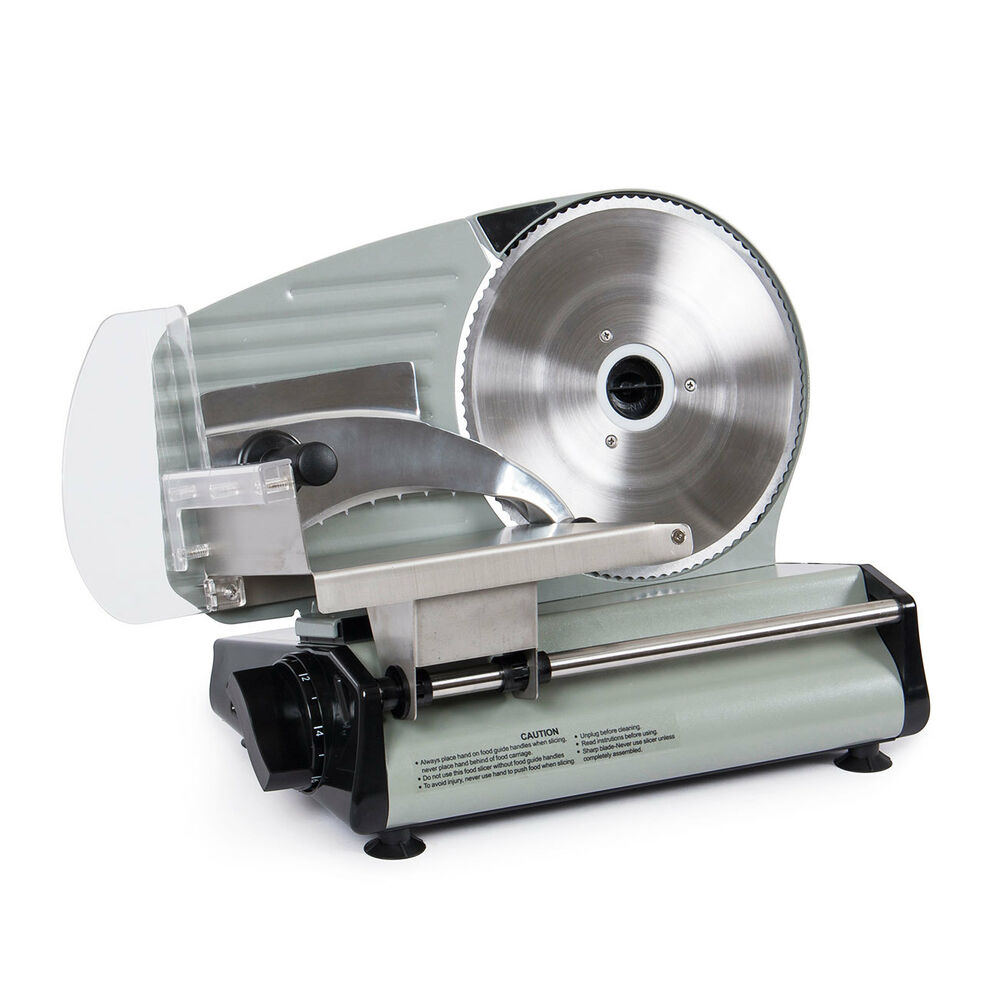 "8.7"" Commercial 180W Electric Meat Slicer Blade Deli"
