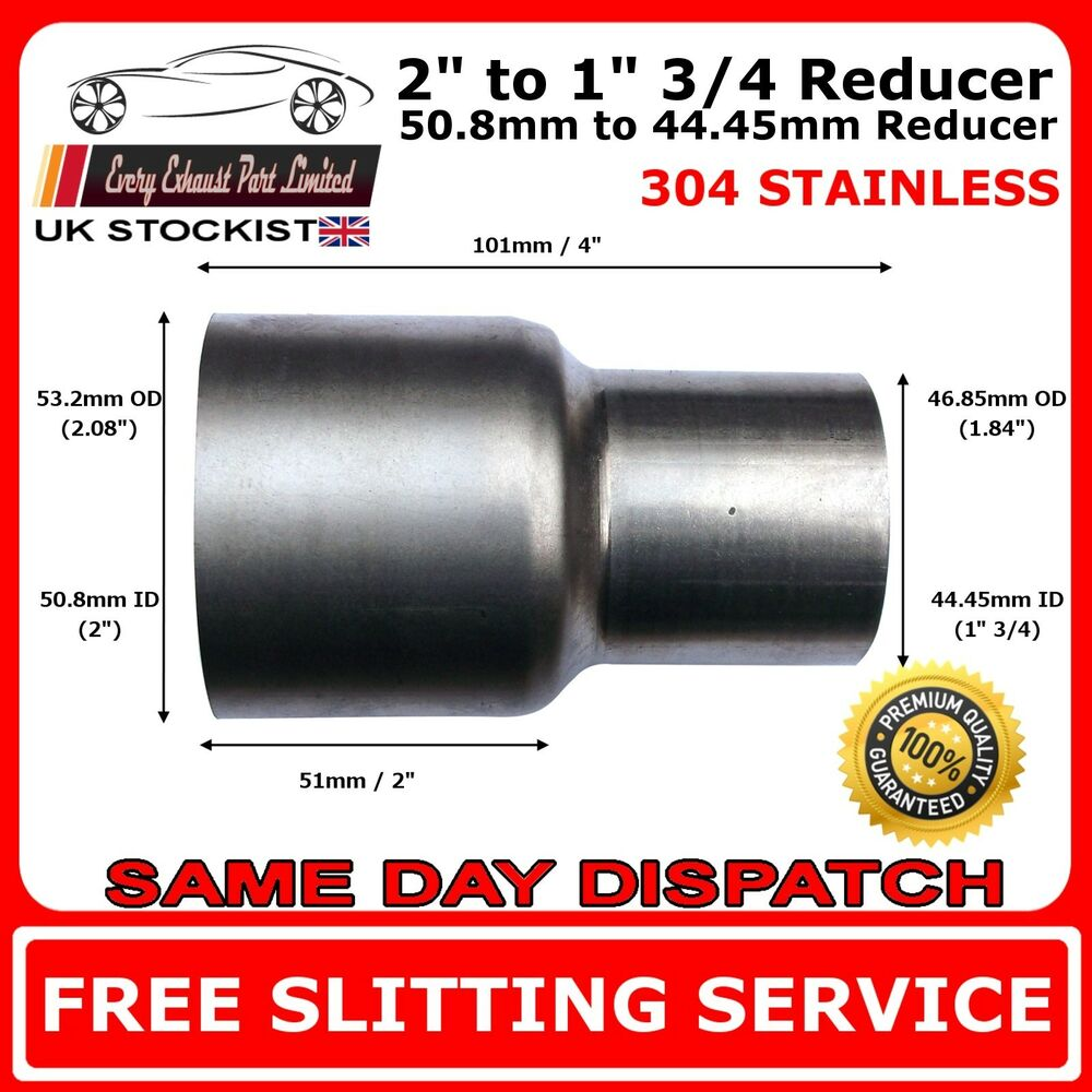 Mm to stainless steel standard exhaust reducer