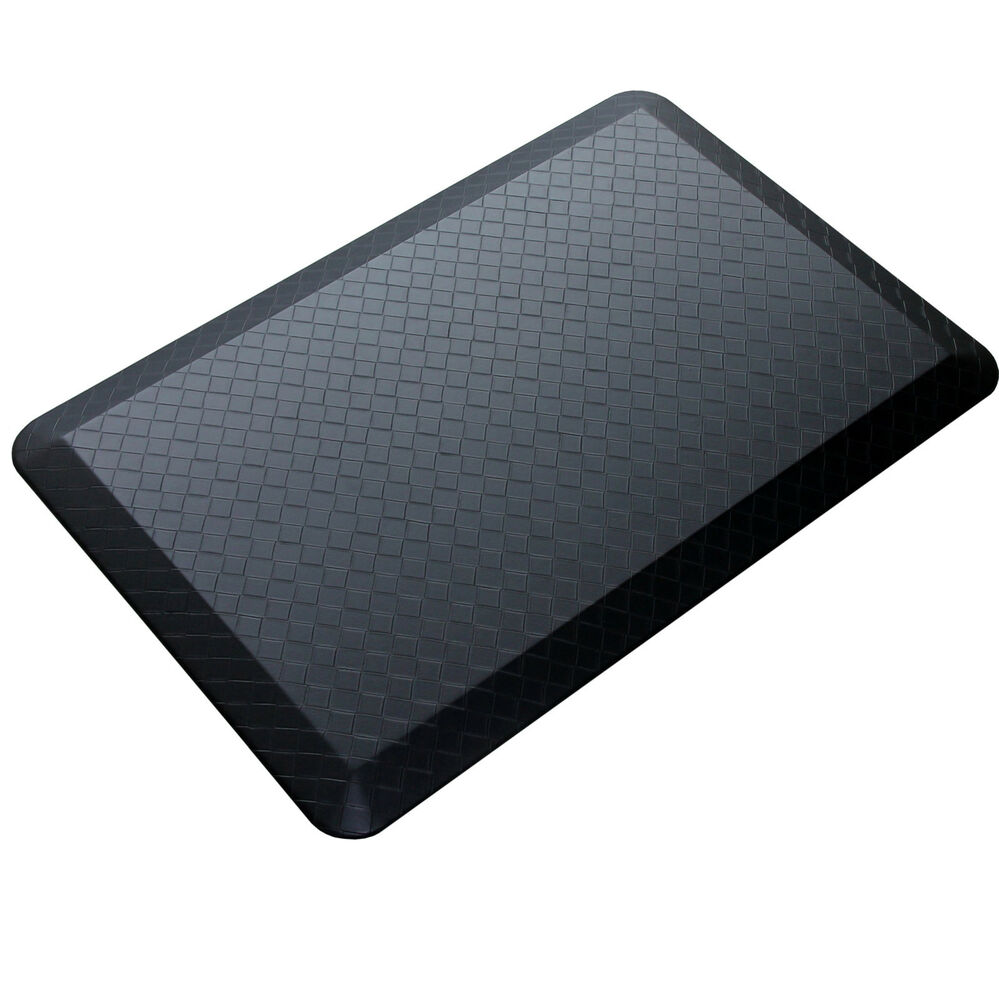 20 By 39 3 4 Black Modern Indoor Cushion Kitchen Rug Anti Fatigue Floor Mat Ebay