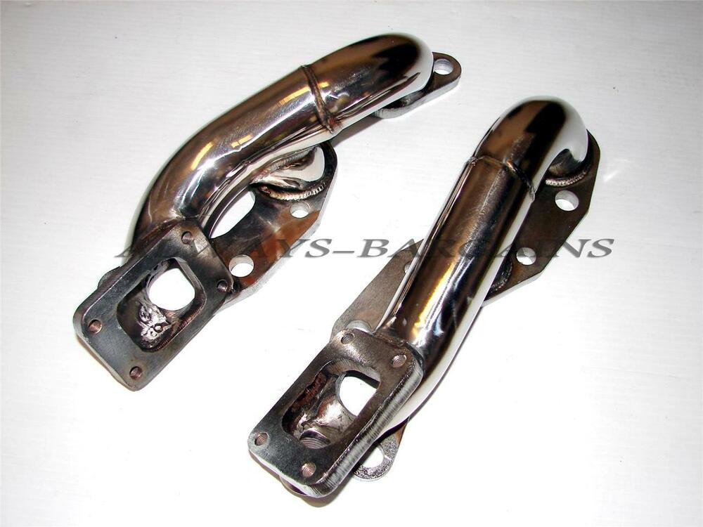 manzo exhaust manifold header fits nissan 90 96 300zx twin. Black Bedroom Furniture Sets. Home Design Ideas