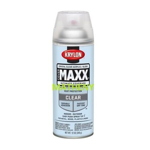 Krylon Clear Acrylic Crystal Clear Gloss Spray Paint Glossy Finish 51301 Ebay