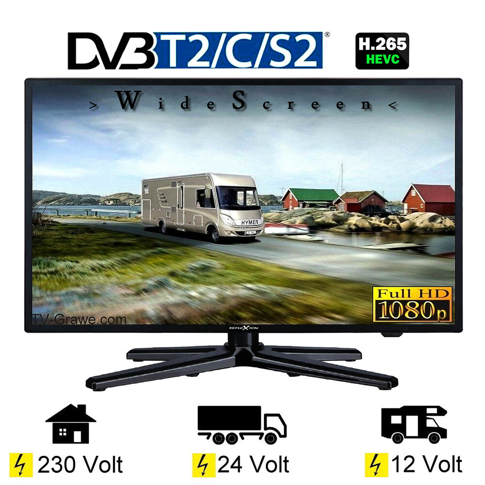 reflexion ledw24 fernseher 23 6 zoll 60cm dvb s2 c t2 12v. Black Bedroom Furniture Sets. Home Design Ideas