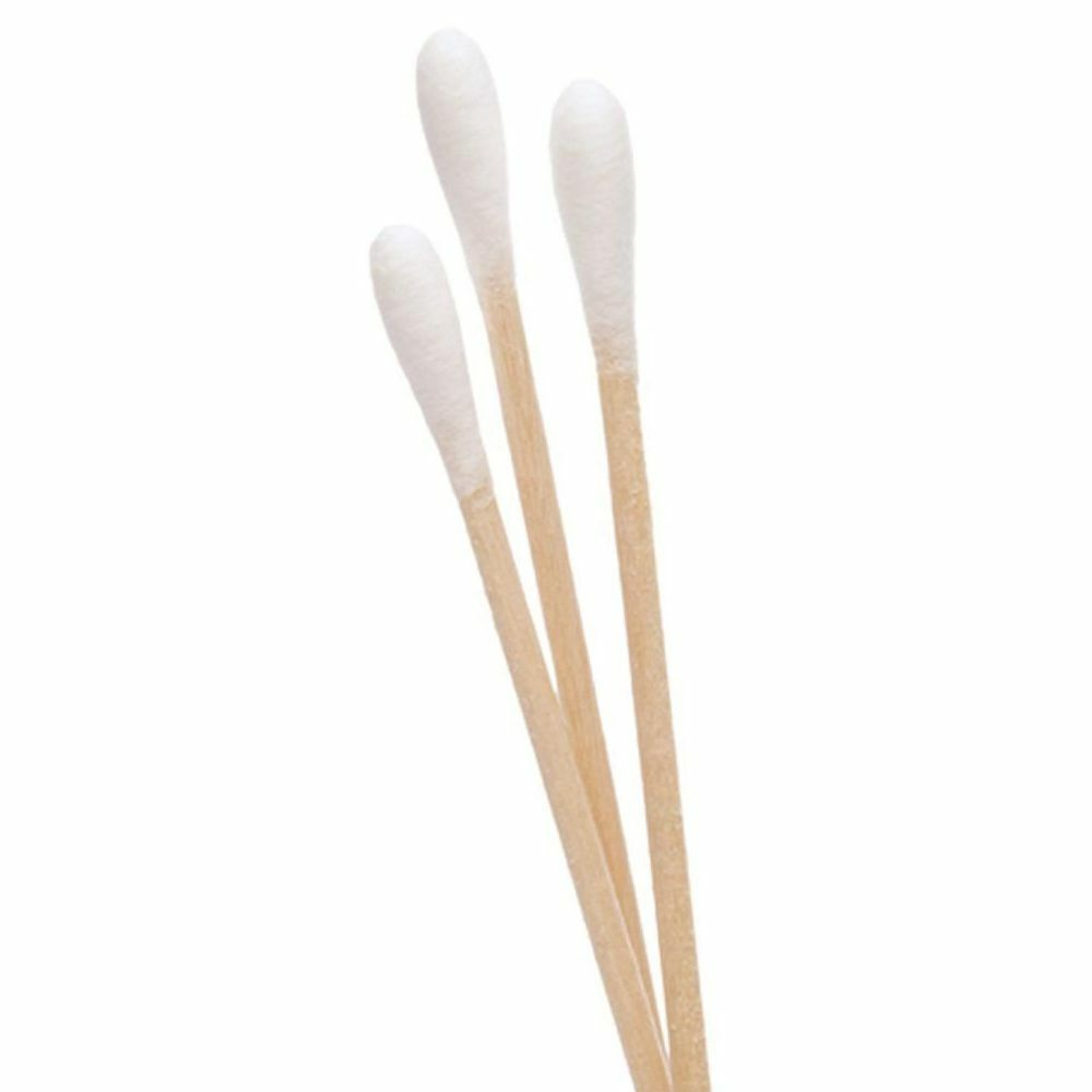 "Details about   200 Pc Cotton Swab Applicator Q-tip Swabs 3""  Wood Handle - US SELLER"