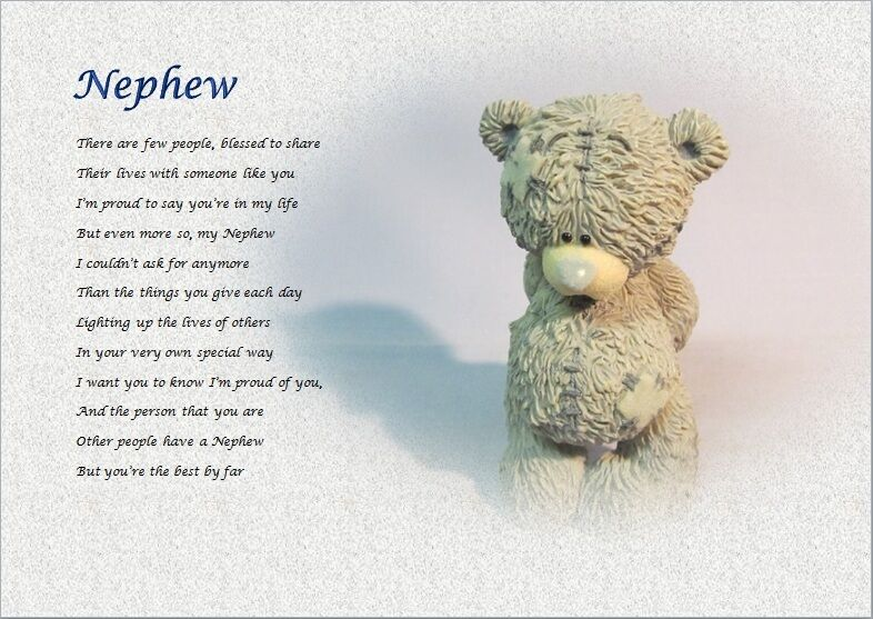 Wedding Gifts For Nephew : NEPHEW- Personalised Poem (Gift) eBay
