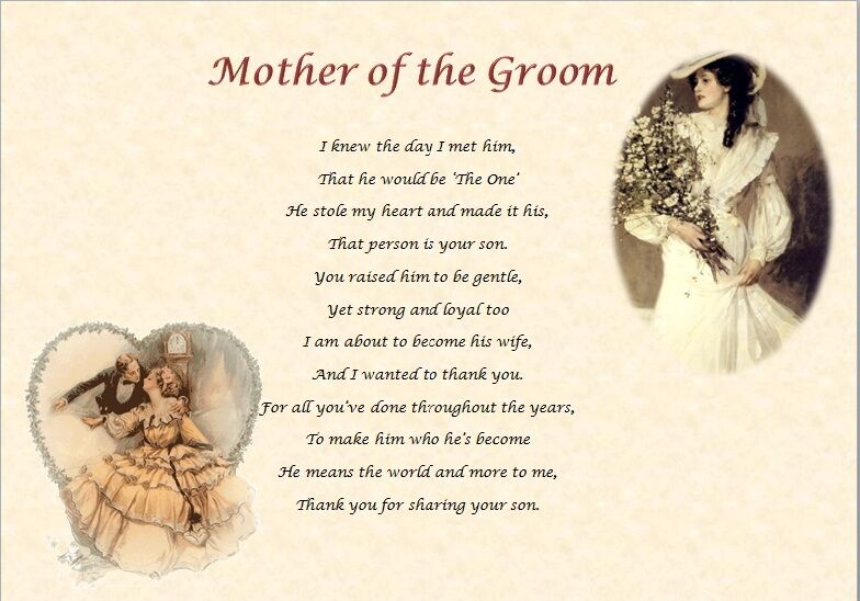 Mother Of The Groom Gift: MOTHER OF THE GROOM -From The Bride (personalised Gift)