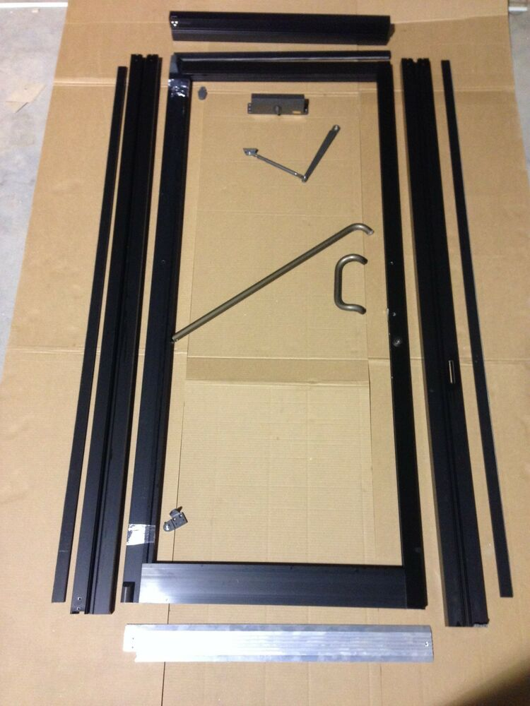 Commercial storefront door frame and closer 3 39 0 x 7 39 0 ebay for Commercial aluminum storefront door