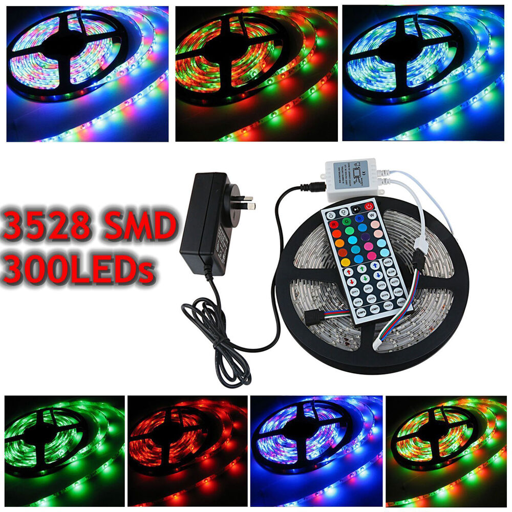 waterproof 5m 10m 15m 3528 smd 300leds led strip light rgb warm cool white dc12v ebay. Black Bedroom Furniture Sets. Home Design Ideas