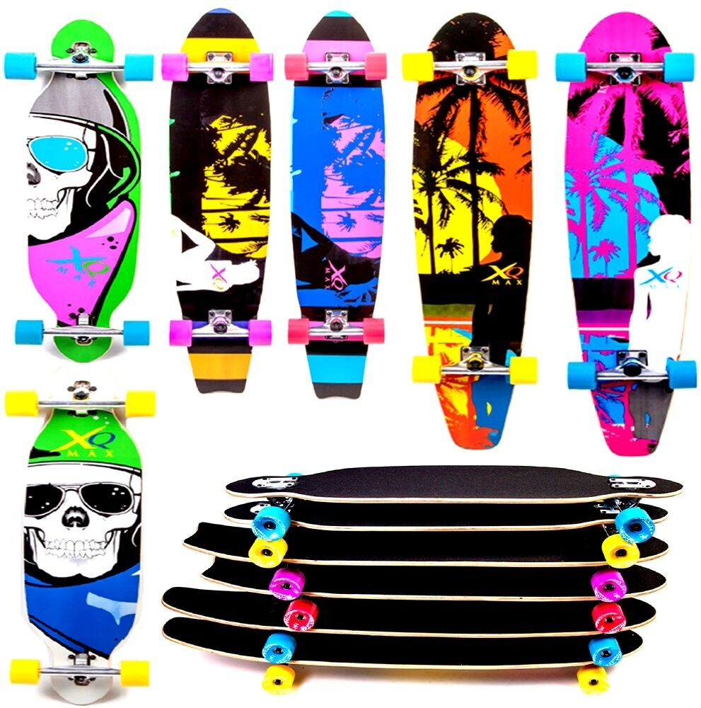 xq max longboard cruiser skateboard lang strand trucks. Black Bedroom Furniture Sets. Home Design Ideas