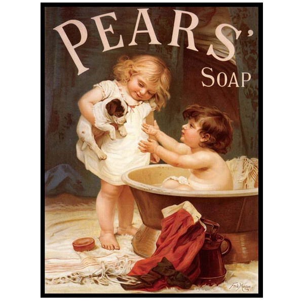 Pears Soap Bath Reproduction Metal Sign Vintage Style