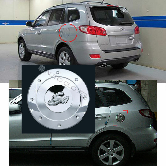 2011 Hyundai Santa Fe Exterior: 2007-2011 Santa Fe/CM Chrome Gas/Fuel Door Cap Cover