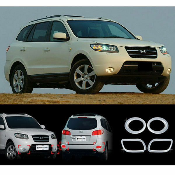 2011 Hyundai Santa Fe Exterior: 2007-2008 Santa Fe/CM Chrome Fog Light/Lamp Cover Moulding
