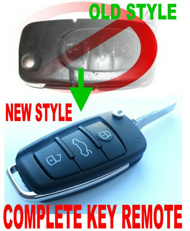NEW R8 STYLE FLIP KEY REMOTE FOR AUDI KEYLESS ENTRY CHIP